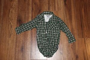 24 month oshkosh button up shirt onsie