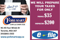 Income Tax $35,Corporation $200 @keele St /Finch Ave W