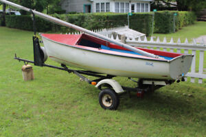 Petrel Aluminum Sailboat Sails and Sailboat Trailer