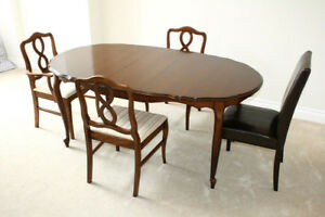 Six-piece expandable dining set / breakfast table