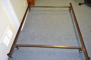 (Two sizes in one)  METAL BED FRAME QUEEN OR DOUBLE