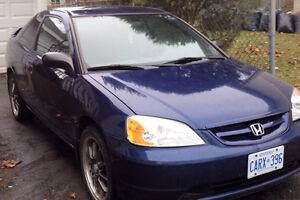 2003 Honda Civic 220000 kms SAFETY AND E TESTED!!