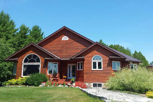 Your Dream Home is for Sale! Private Log Home on 42 Acres!