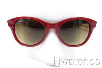 Neu Ray-ban Rot Rahmen Braun Farbverlauf Linse Sonnenbrille RB4203 6044/85 51-20