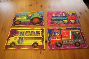 Set of four 12-piece wood puzzles for sale