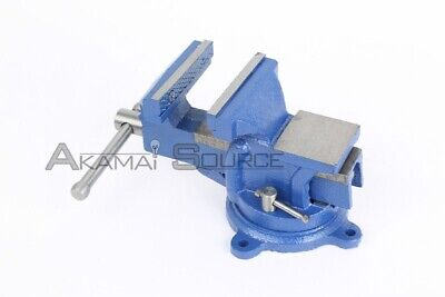 4 Bench Steel Vise With Anvil Swivel Locking Base Clamp Work Top Table Tool
