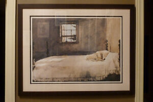 Professionally Framed Print – 'Master Bedroom' by Andrew Wyeth Kitchener / Waterloo Kitchener Area image 1