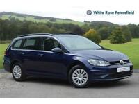 2017 Volkswagen Golf Estate S 1.4 TSI 125PS 7-speed DSG 5 Door Petrol blue Semi