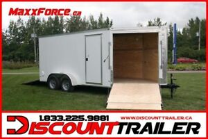2019 MAXXFORCE CARGO = 7X12 SNOWMOBILE ENCLOSED TRAILER