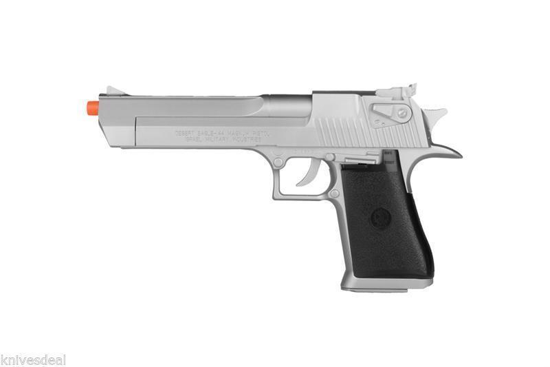 KWC Magnum Licensed Desert Eagle .44 Airsoft Spring Pistol Silver