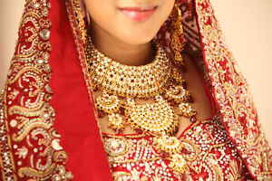 Bridal Red Lengha with full Jewelry set