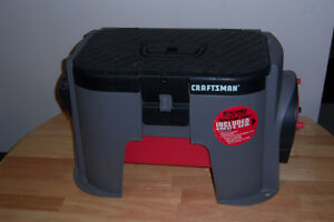 Craftsman tool box and power outlet