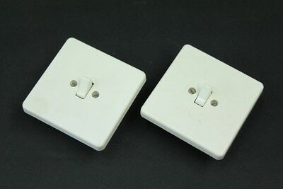 Old Bakelite Switch White Flush Mounted cross Switch Light Switch Art Deco Loft