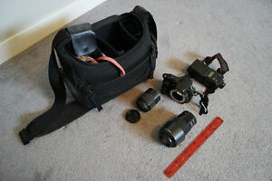 Sony Alpha (A200) DLSR with lenses