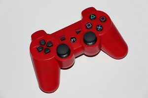 PS3-SANS FIL/WIRELESS-MANETTE/CONTROLLER (NO USB CABLE)-ROUGE/RED (NEUF/NEW) [VOIR/SEE DESCRIPTION] (C003)