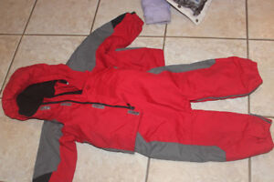 18-24 months matching snow suit Columbia red, fleece lined/ warm
