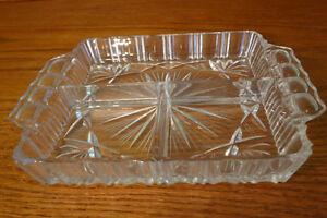 Cut glass/crystal dish