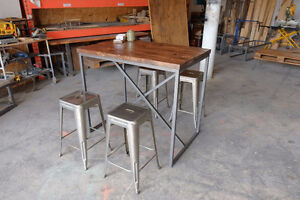 2 inch Slab and Steel Coffee table w/ Pull out Crate Shelf Kitchener / Waterloo Kitchener Area image 5