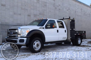 2011 FORD F550 XLT CREW CAB FLATDECK 4X4 WITH CABINETS