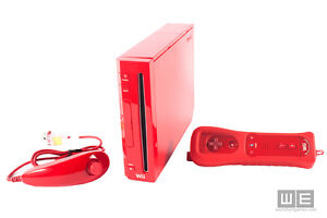 ► Rare Red NINTENDO Wii w/ Red controller