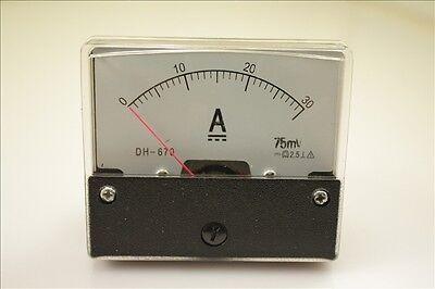 Analog Amp Panel Meter Current Ammeter Dc 0-30a Shunt Qc