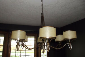 6 Light oil rubbed bronze chandelier-Like new!