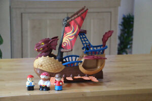 Adorable Pirate/ Viking Ship with pirates