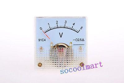 New Analog Volt Panel Meter Gauge Dc 05v 91c4