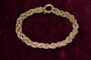 18K gold braid bracelet