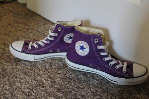 women's purple converse size 8