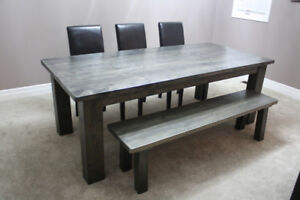 New Canadian Made Kitchen Dining Harvest Table 5, 6, 7, 8 feet