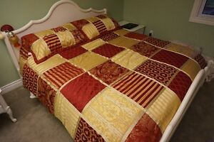 KING size Bedding Set w/ curtains and 2 sheet sets