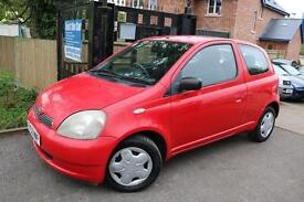 2003 (52 Plate) Toyota Yaris 1.3 3 Door Red Automatic Super Low Mileage Long MOT