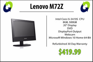 Lenovo M72Z Refurbished AIO Computer (Grade A) - 360 Computers