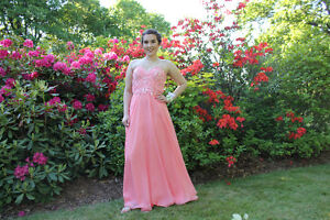 Pink/ Coral Prom Dress