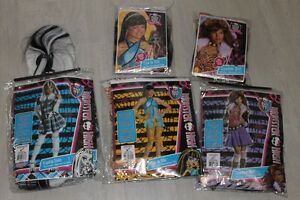 Monster high costumes with wigs $15/each