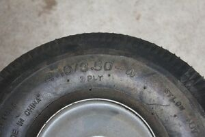 Wheels for utility cart