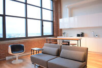 Furnished Authentic Loft with 14-ft Ceilings and Panoramic Views