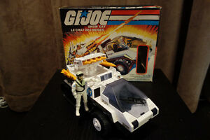 GI Joe - 1985 Snowcat with Frostbite Figurine and Box