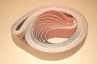 New 2 x 72 Ceramic P36 Grit Sanding Belts- Norton 3rd Gen Grain-Cerpass (3 pc)
