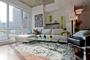 Fully Furnished Penthouse 2 bedrm 2 bathrm + terraces Downtown