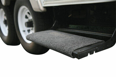 Camco Rv Trailer Camper Wrap Around Step Rug Mat Carpet Dirt Water Catcher Gray