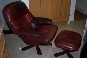 Leather Recliner Chair with swivel seat