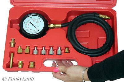 Wave Box Oil Pressure Meter Test Kit Tester Gauge Diesel Petrol Car Garage Tool