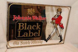 Johnny Walker Beer mirror ad sign