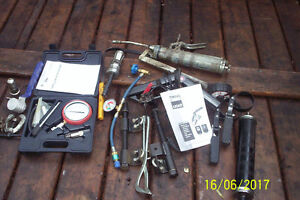 Auto tools and test kits, compression tester, timing light, etc.