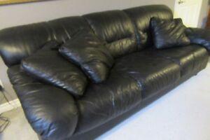 sofa en cuir 3 places