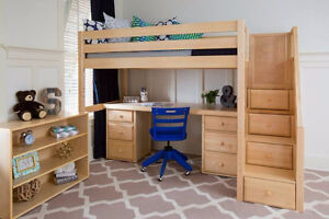 FREE SHIPPING CANADA WIDE_SALE 20%OFF_SOLID WOOD LOFT & BUNK BED