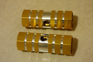 2pcs Bicycle Aluminum Alloy Pegs (Gold)