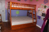 Bunk Bed - Pine with Drawer and Ladder